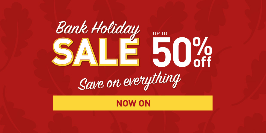 Takeover - Bank Holiday Sale  / Save on Everything
